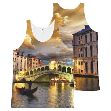 Romantic Venice, All-Over Printed Unisex Tank All-Over Print Tank Top