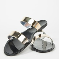 Jelly Golden Banded Sandals