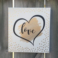 Love Romance Sign Shabby Chic Sign Rustic Sign FREE Shipping