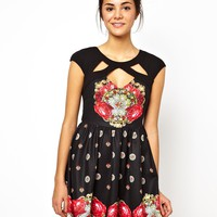 Ginger Fizz Faithfully Yours Skater Dress