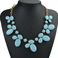** MAKE OFFER ** NEW LIGHT BLUE BUBBLE STATEMENT NECKLACE Independent Designer one size by Alisha's Fashion