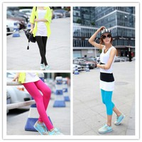Women : Cropped pants colorful lefgings ghl0230