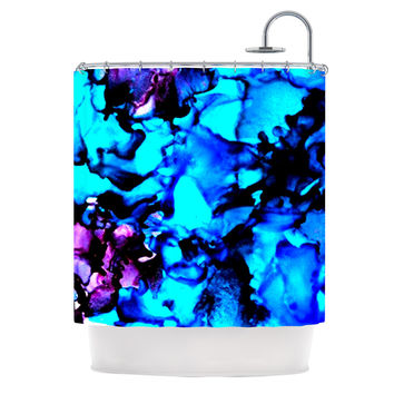 "Claire Day ""Peace Offering"" Blue Aqua Shower Curtain"
