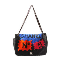Chanel Shearling Art Pop Large Purse with Quilted Lambskin Fall 2014