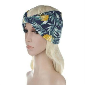 2018 NEW 10pcs/lot Women Turban Twist Bandanas Headband Head Wrap Twisted Knotted Knot Soft Hair Band Bohemian pattern style