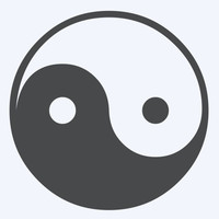 Ying Yang Symbol - Car/Truck/Home/Laptop/Computer/Phone Decal