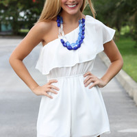 White Night Romper