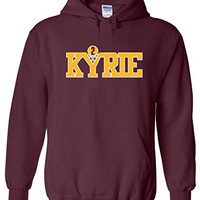 "Cleveland Cavaliers Kyrie Irving ""Old School Logo"" Hooded Sweatshirt ADULT MEDIUM"