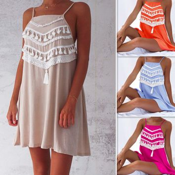Casual dress dress sexy l tassel condole