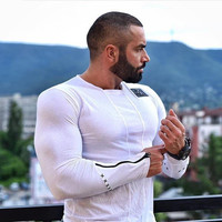 Men Long Sleeve Winter Round-neck Gym Stretch Sports Hoodies [10657852291]