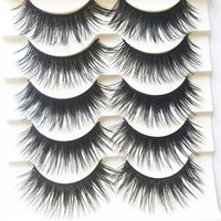 Voluminous False Eyelashes(Mixed Length) - 5 Pairs