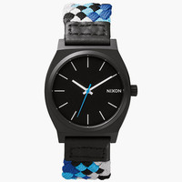 Nixon Time Teller Watch Black/Red Woven One Size For Men 25993714901