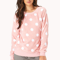 Cozy Polka Dot PJ Sweatshirt
