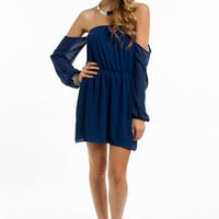 Flaunt It Off Shoulder Dress $40