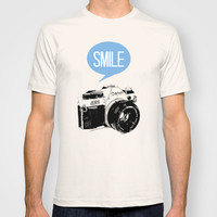 Vintage Canon Camera, Smile T-shirt by Pati Designs