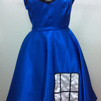 Doctor Who Tardis Inspired Satin Formal Dress