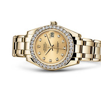Rolex Pearlmaster 34 Watch: 18 ct yellow gold - 81298