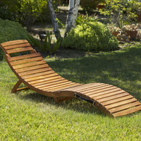 Christopher Knight Home Lahaina Wood Outdoor Chaise Lounge | Overstock.com