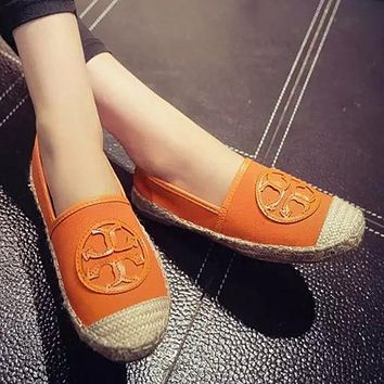 Tory Burch Slip-On Women Fashion Flats Espadrilles Shoes