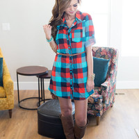 Between Me and You Plaid Dress