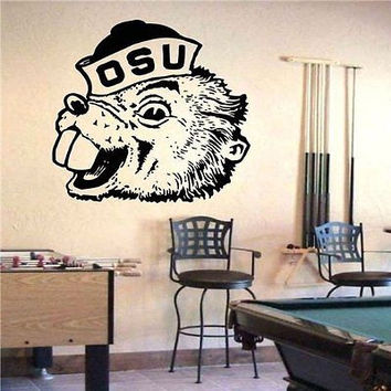 Oregon State Beavers Logo Emblem Wall Art Sticker Decal (S703)
