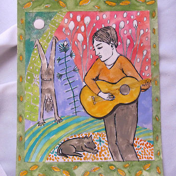 Musician and His Music Original Whimsical by RenaissanceDays