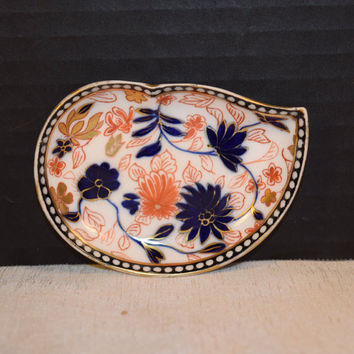 Coalport Royal Crown Derby Salt Dipping Dish Vintage Small Trinket Dish Made in England Antique China Pin Tray Plate Discontinued China