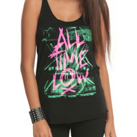 All Time Low Pink Logo Girls Tank Top