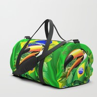 SOLD! Toco Toucan with Brazil Flag - Design by BluedarkArt