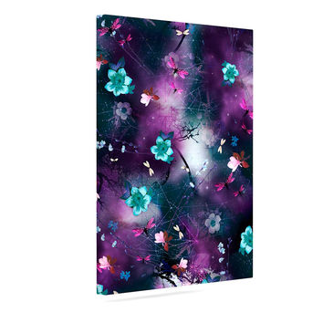 "Fernanda Sternieri ""Fairy Tale"" Purple Floral Canvas Art"