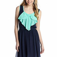 A Byer Contrast Bow Front Dress