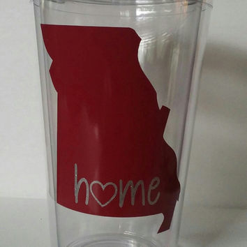 "State ""Home"" Tumbler, State Love Tumbler, Any State,State Love,Georgia State tumbler,Georgia Love, I love my state cup,State Home tumbler"