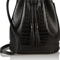 Wendy Nichol - Carriage croc-effect leather bucket bag