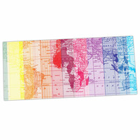 "Catherine Holcombe ""Rainbow World Map"" Multicolor Travel Desk Mat"