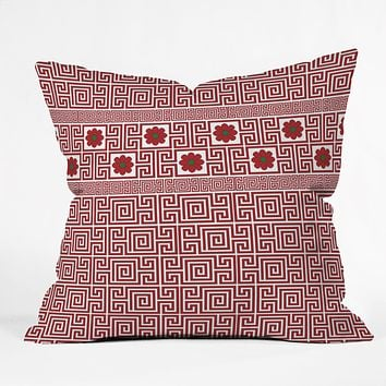 Belle13 Traditional Deco Floral Throw Pillow