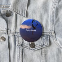 Aquatic Silhouette Cloud Button
