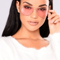 Tinted Love Sunglasses - Red