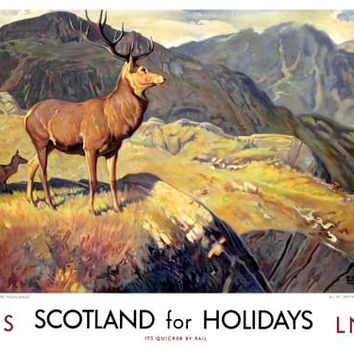 Scotland for Holidays by W. Smithson Broadhead Fine Art Print