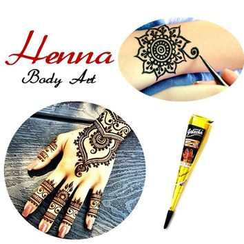 Indian Women Fashion Mehndi Henna Cone Multi Colors Temporary Tattoo Waterproof 100% Safe