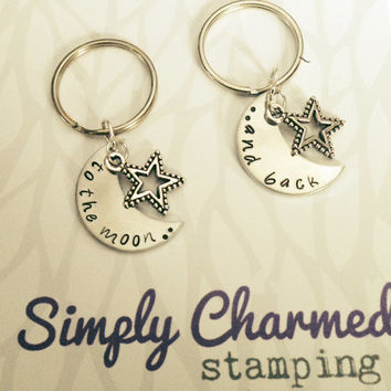 To The Moon and Back Double Key Chain/Necklace