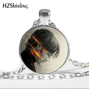Supernatural Sam Necklace Supernatural Sam Jewelry Glass Dome Pendant Necklace art gift for women for men 2017 A-37-1 HZ1