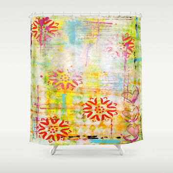 Jump Into Spring Shower Curtain by kathleentennant