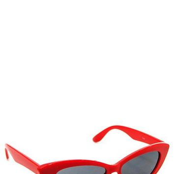 Marilyn Lipstick Red Sunnies