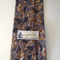 Vintage Silk Floral Men's Neck Tie // London Fog //
