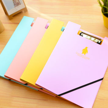 Cute Animal Cutout Stainless Stell Hard Clip Boards Folder Clipboards A4 Letter Size File Organizer Student Stationery