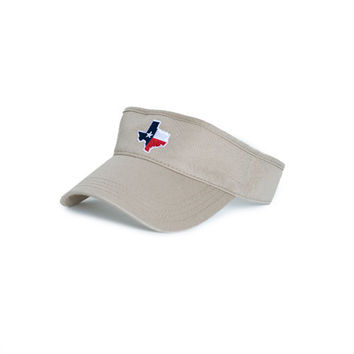 Texas Traditional Hat Visor Khaki | State Traditions
