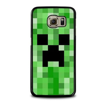 creeper minecraft 2 samsung galaxy s6 case cover  number 1