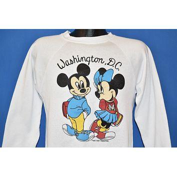 80s Mickey And Minnie Mouse Cute Sweatshirt Medium
