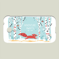 Adventure Awaits Galaxy case by freeminds on BoomBoomPrints