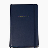 Kate Spade Take Note If I Do Say So Myself Large Notebook Navy ONE